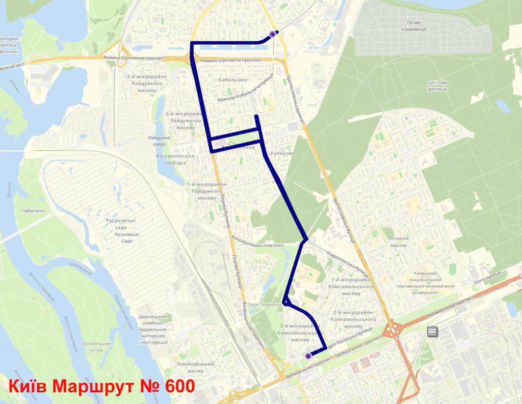 Маршрутка 600 Київ