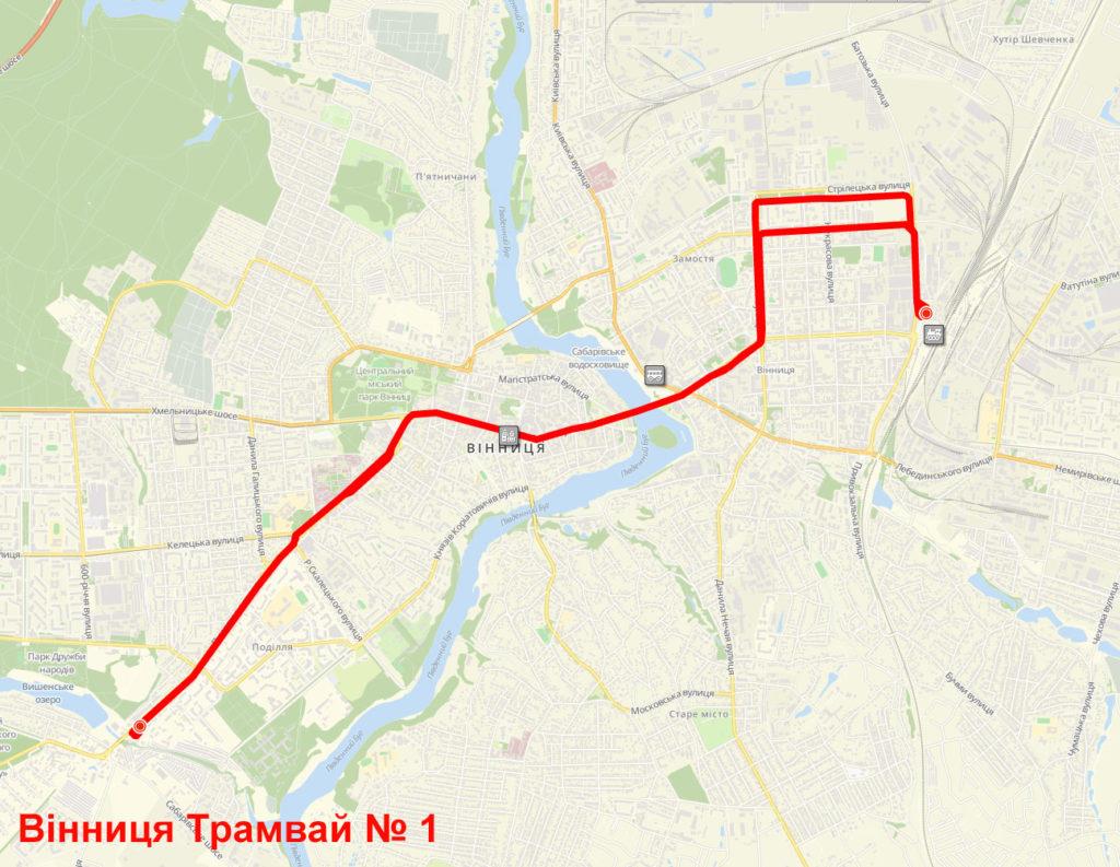 Трамвай 1 Вінниця