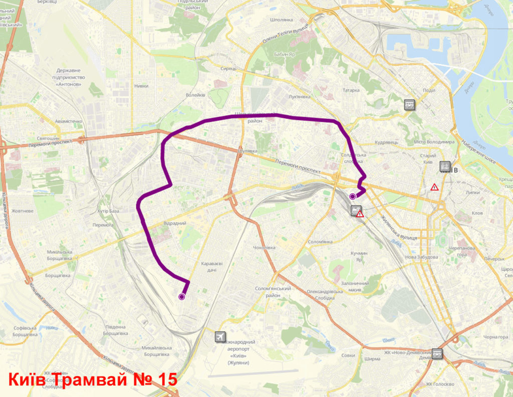 Трамвай 15 Київ