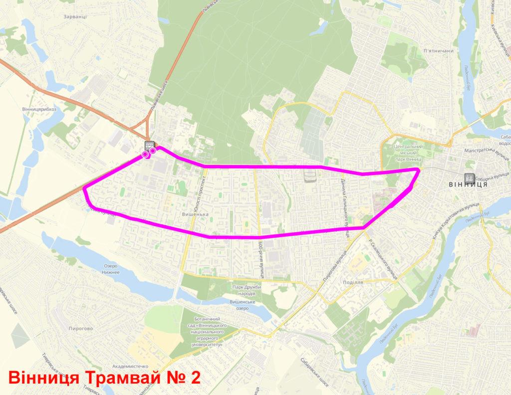 Трамвай 2 Вінниця