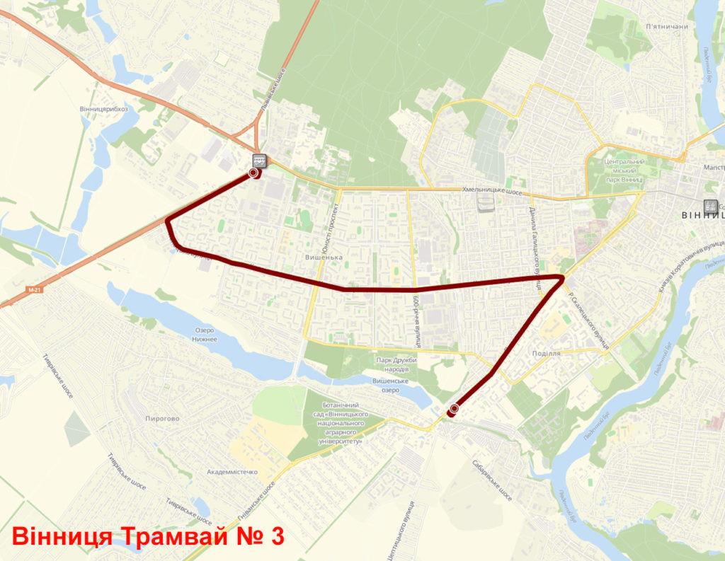Трамвай 3 Вінниця