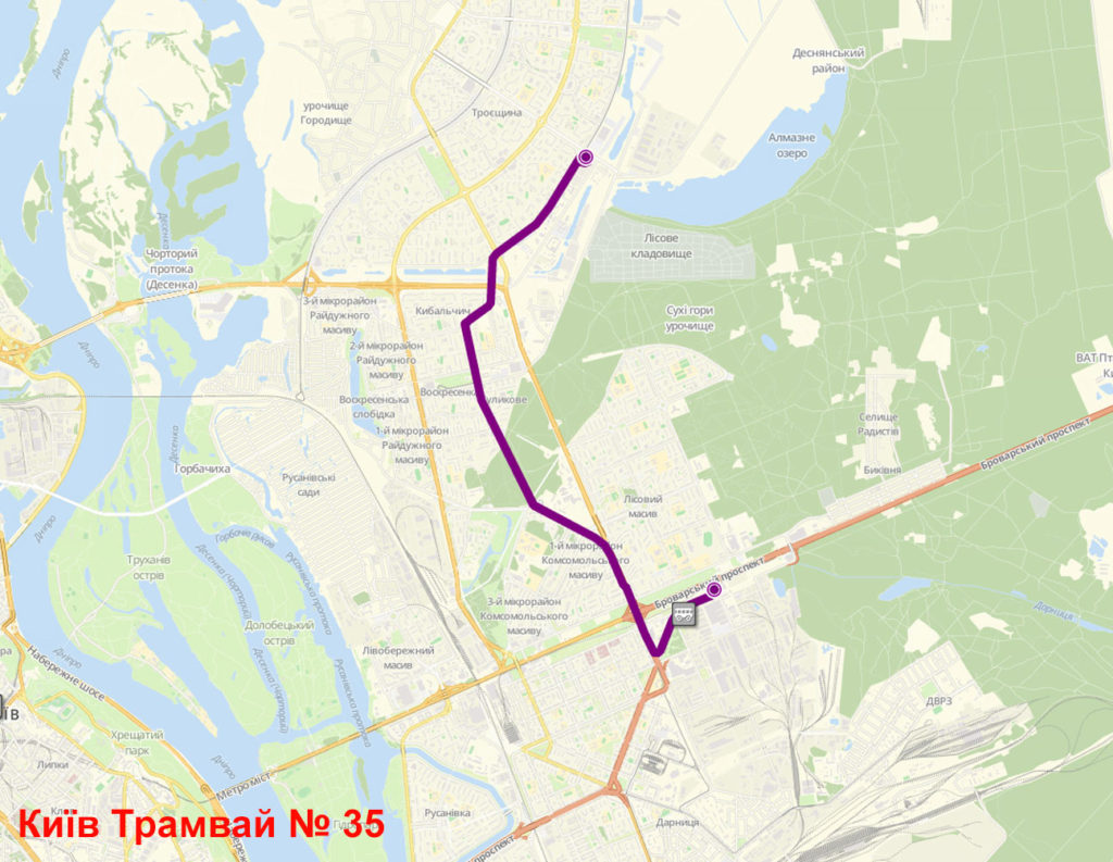 Трамвай 35 Київ