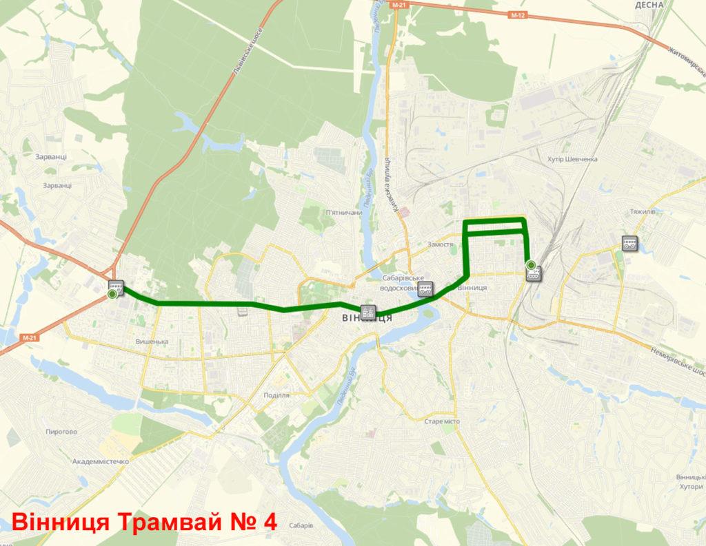 Трамвай 4 Вінниця
