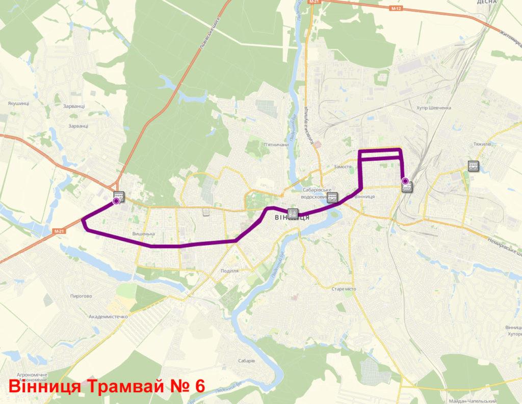 Трамвай 6 Вінниця