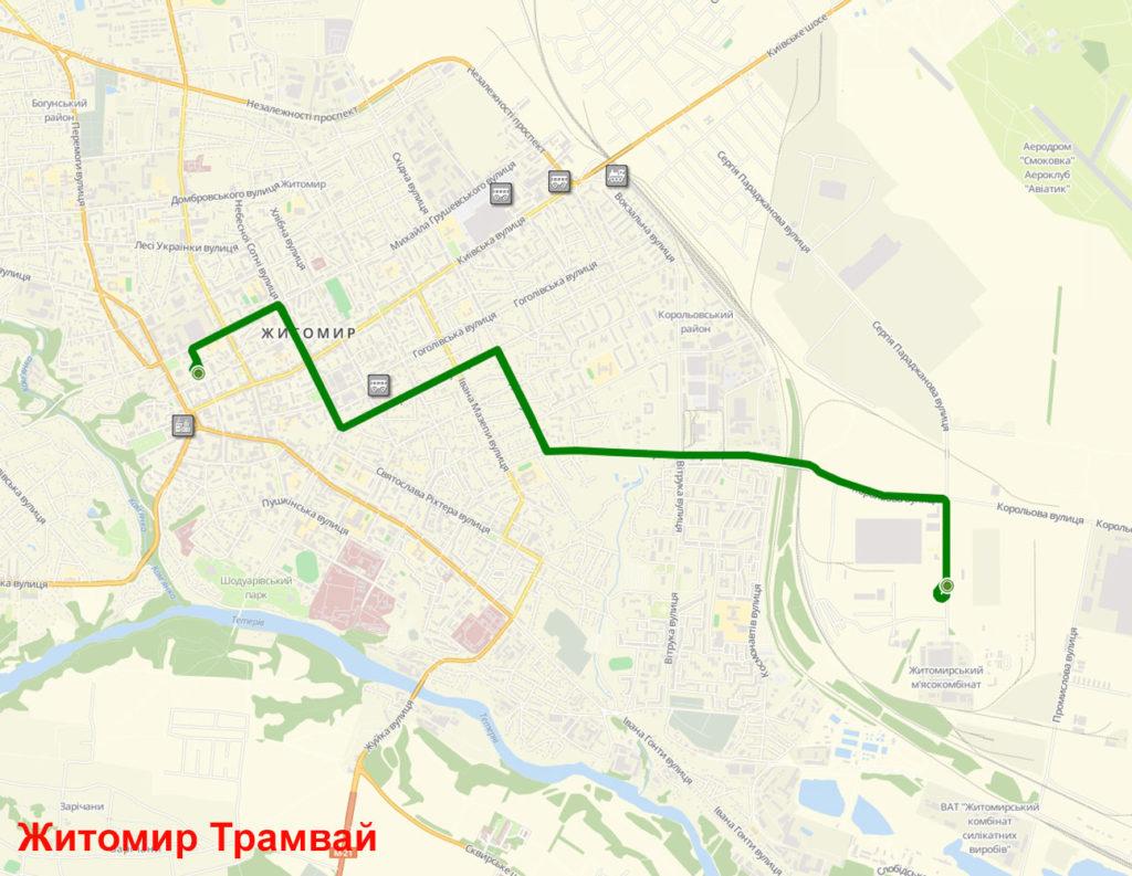 Трамвай Житомир