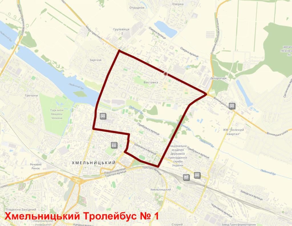 Тролейбус 1 Хмельницький