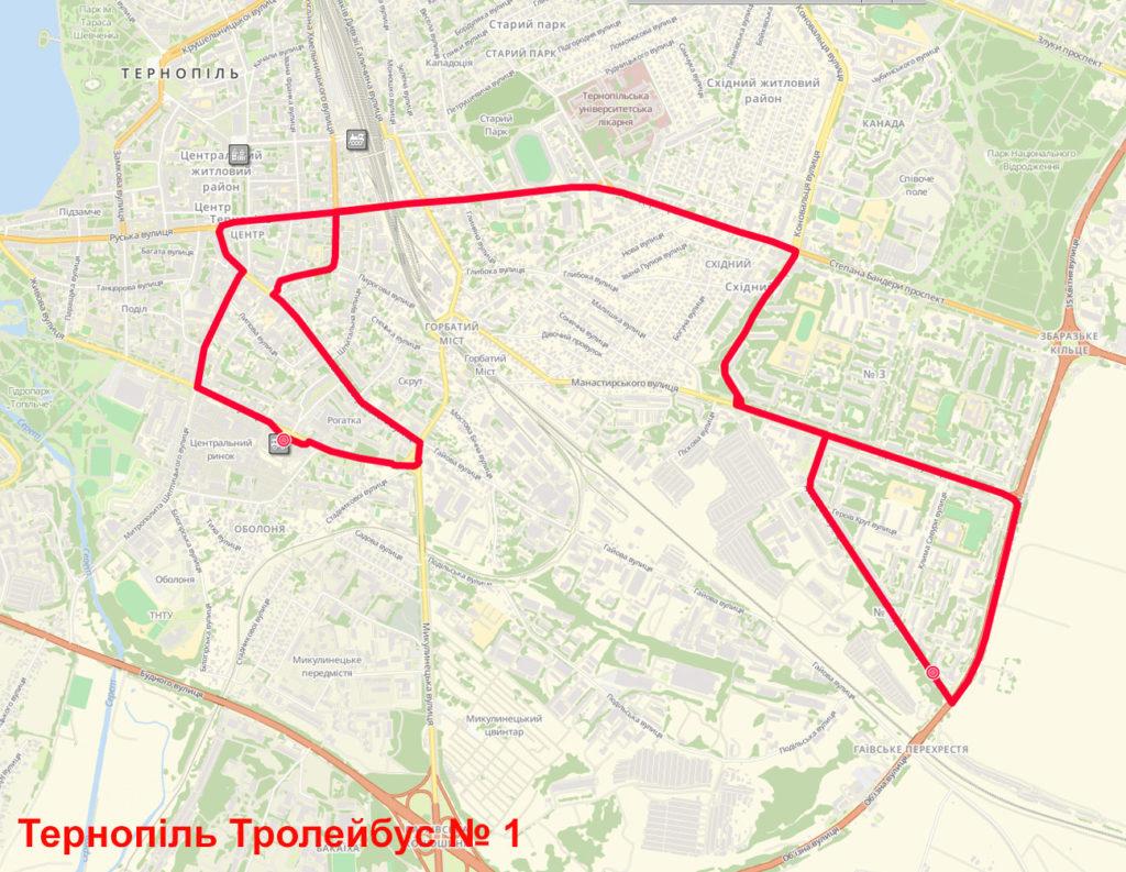 Тролейбус 1 Тернопіль