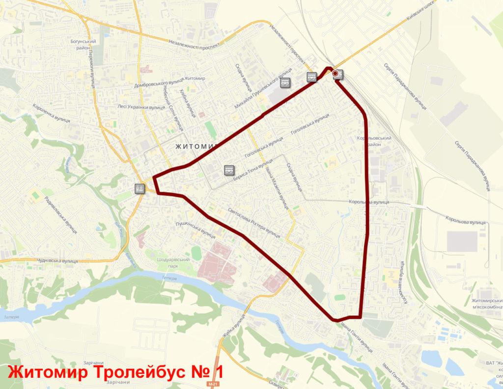Тролейбус 1 Житомир