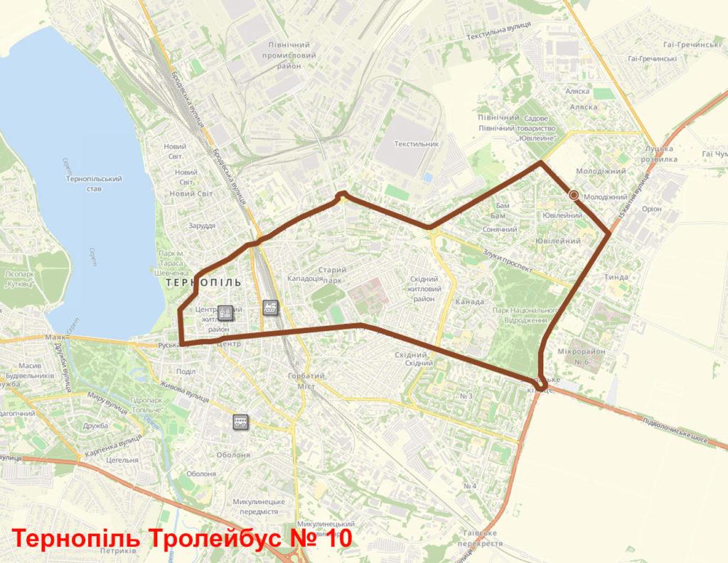 Тролейбус 10 Тернопіль