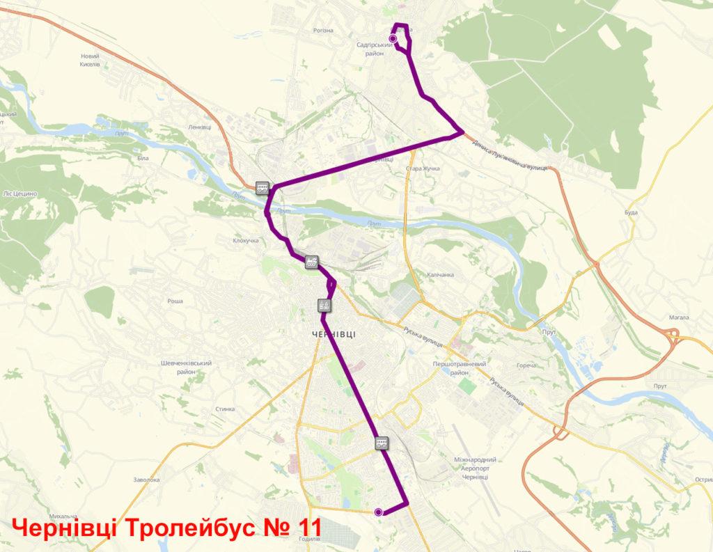 Тролейбус 11 Чернівці