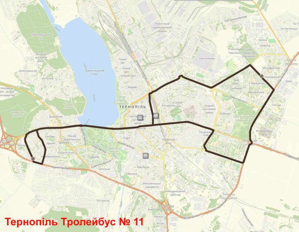 Тролейбус 11 Тернопіль