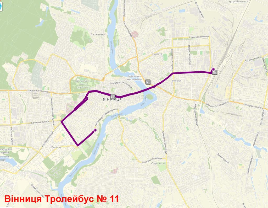 Тролейбус 11 Вінниця