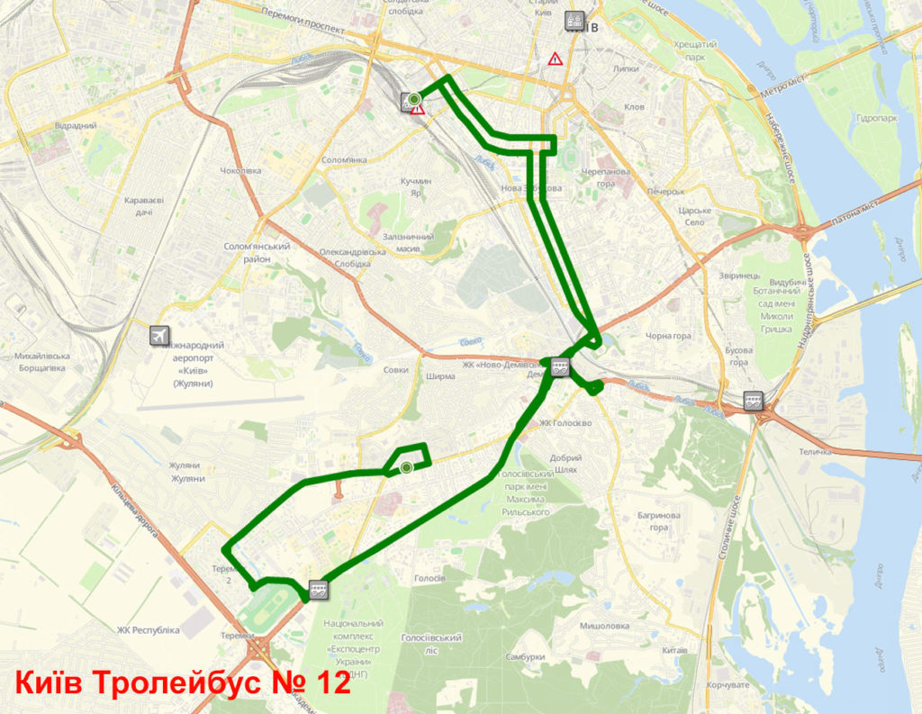 Тролейбус 12 Київ