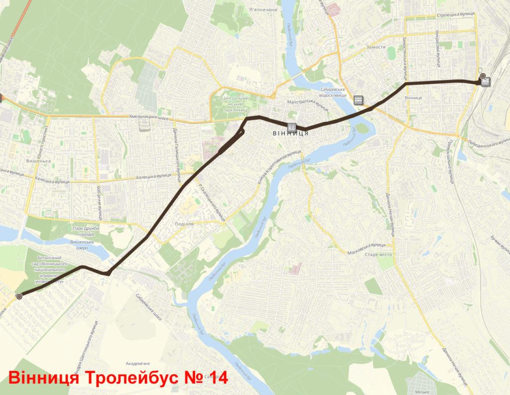 Тролейбус 14 Вінниця