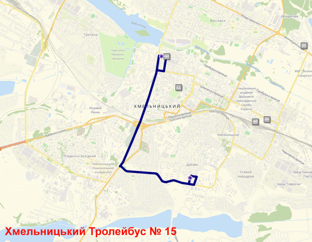Тролейбус 15 Хмельницький