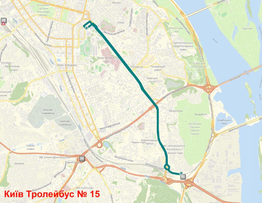 Тролейбус 15 Київ
