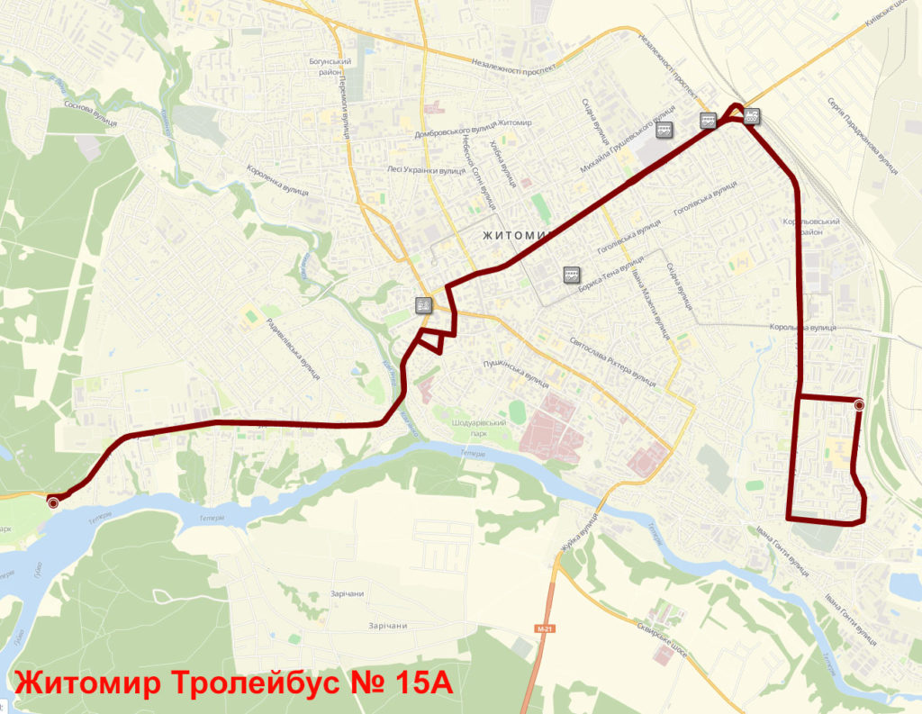 Тролейбус 15А Житомир