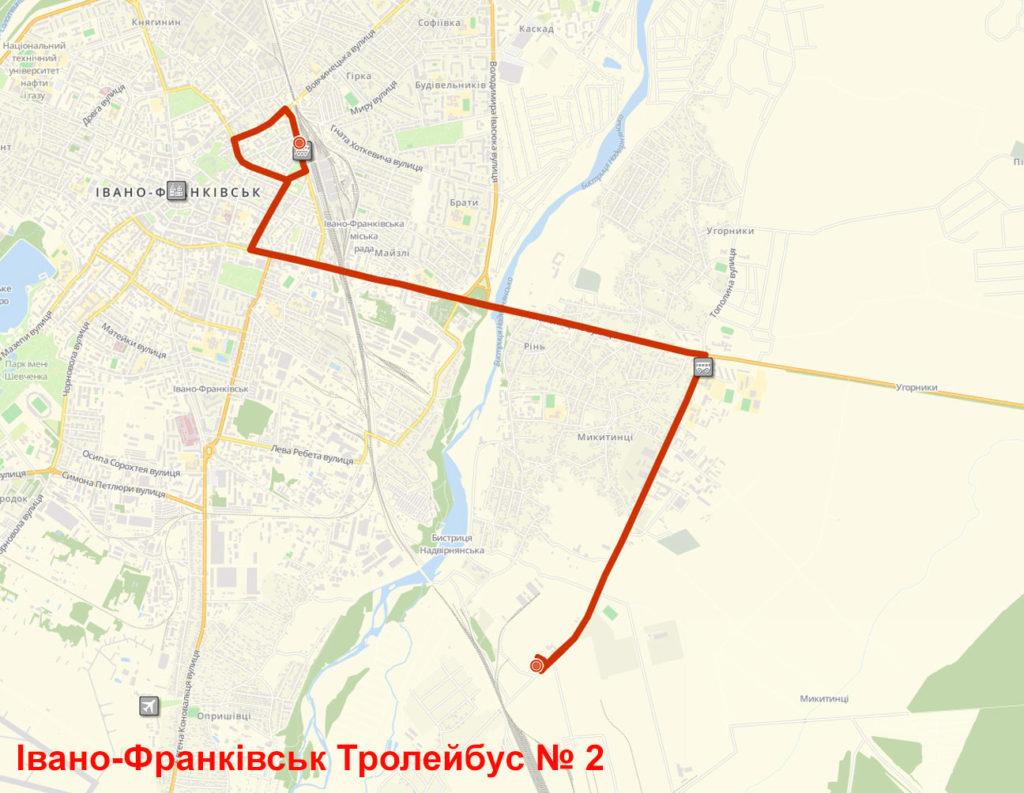 Тролейбус 2 Івано-Франківськ