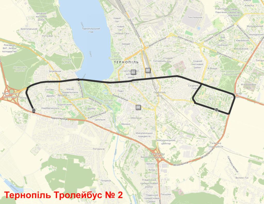 Тролейбус 2 Тернопіль