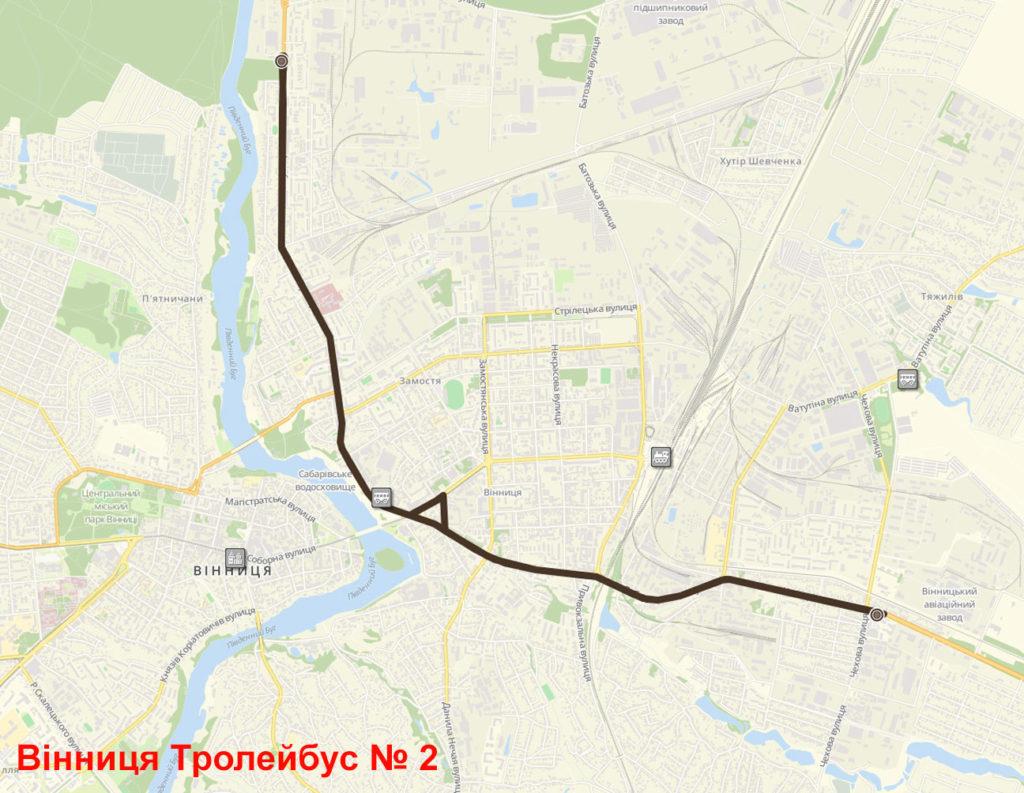 Тролейбус 2 Вінниця