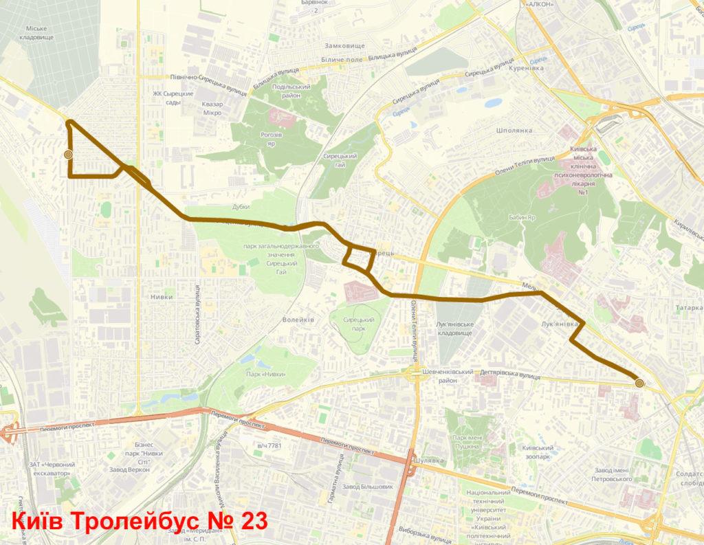 Тролейбус 23 Київ