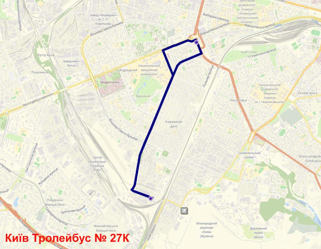 Тролейбус 27К Київ
