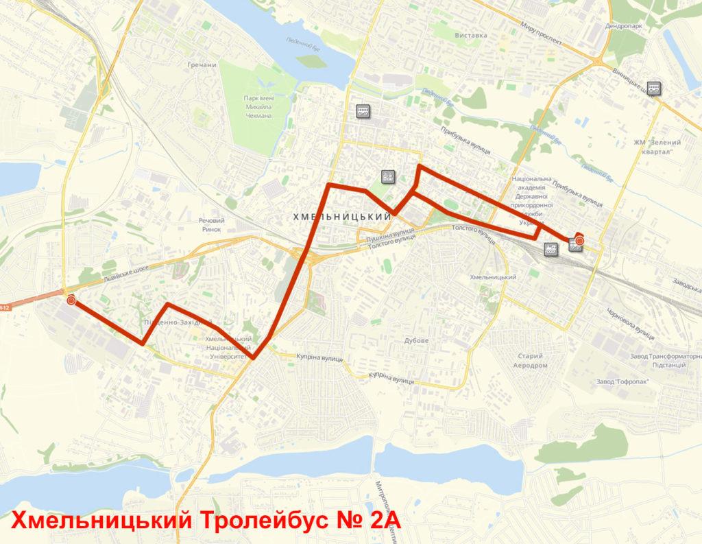 Тролейбус 2А Хмельницький