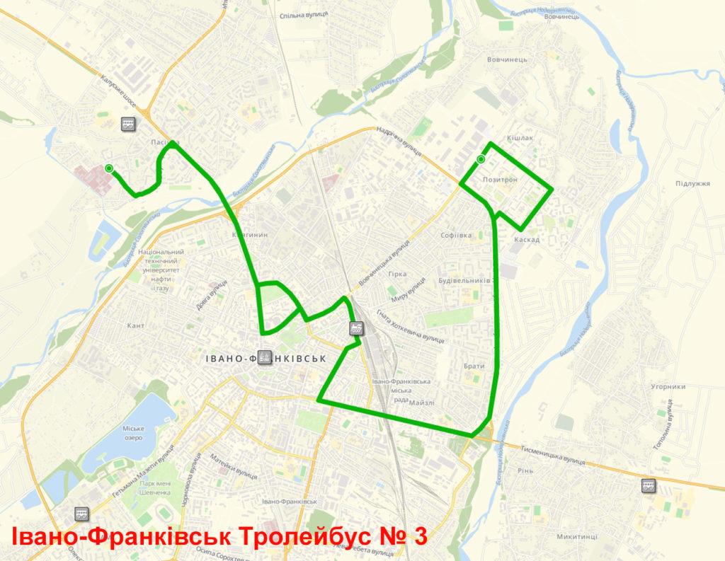 Тролейбус 3 Івано-Франківськ