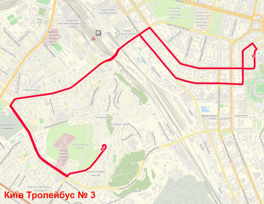 Тролейбус 3 Київ