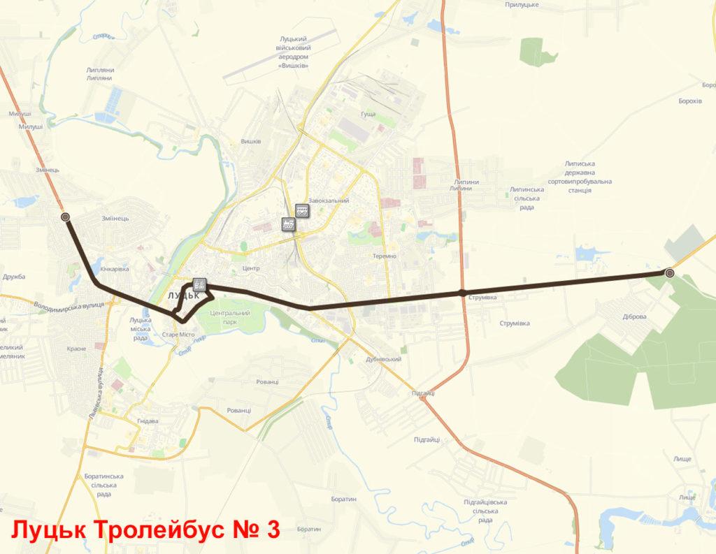 Тролейбус 3 Луцьк