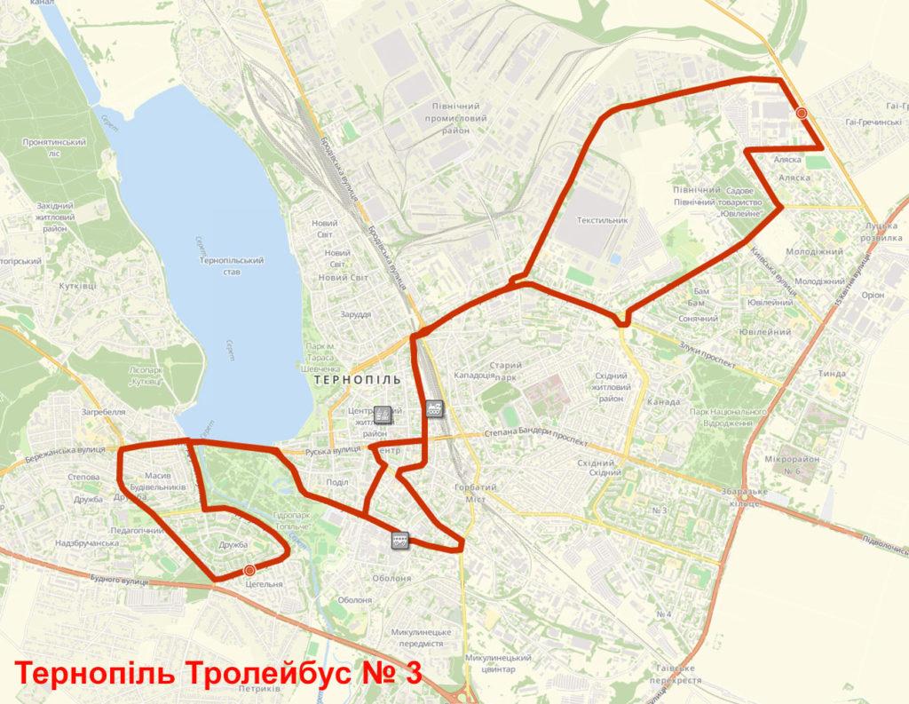 Тролейбус 3 Тернопіль