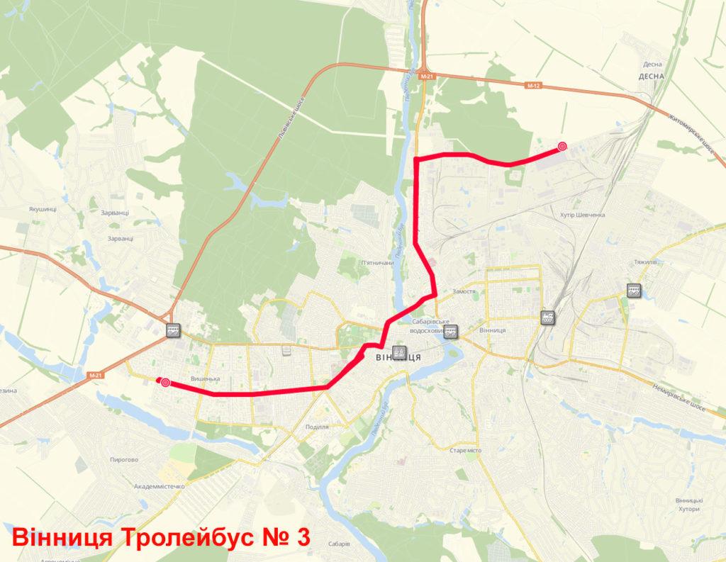 Тролейбус 3 Вінниця