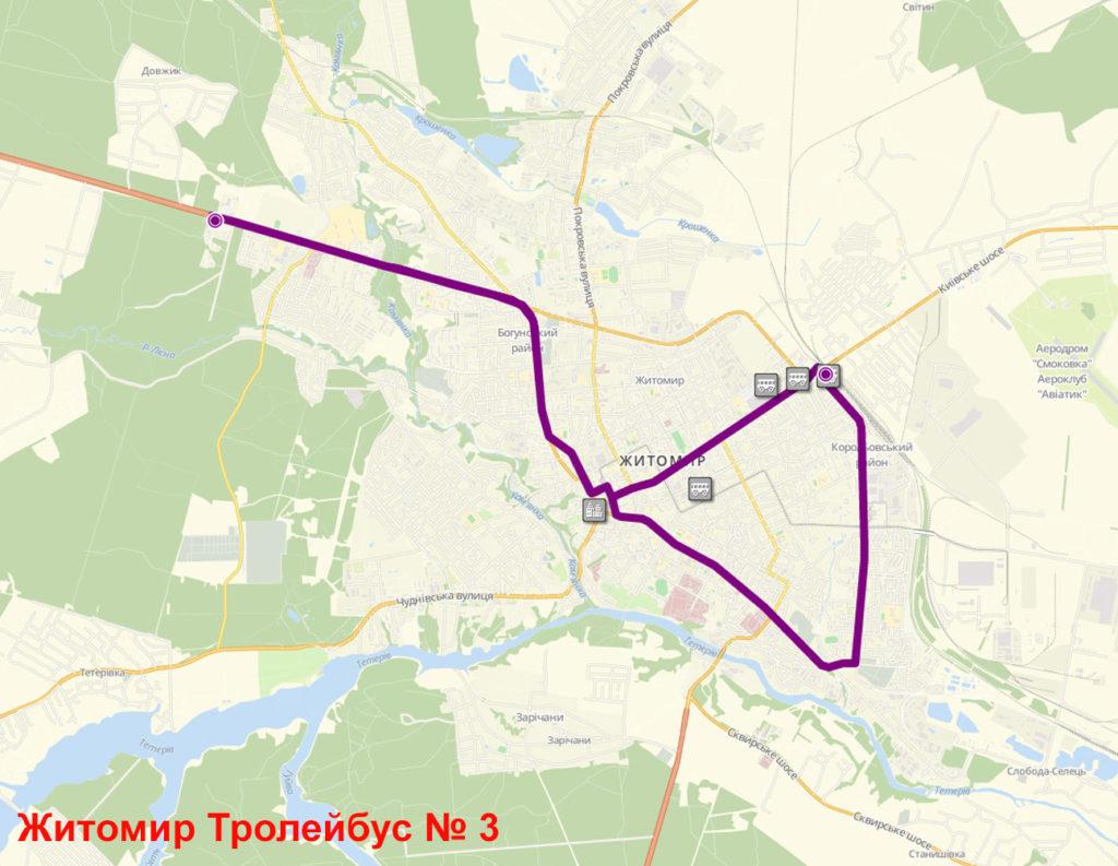 Тролейбус 3 Житомир