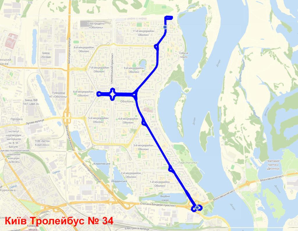 Тролейбус 34 Київ