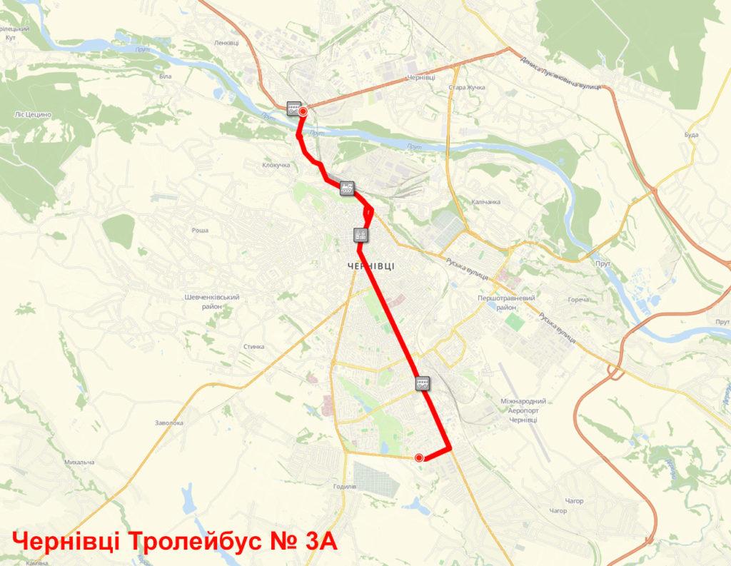 Тролейбус 3А Чернівці