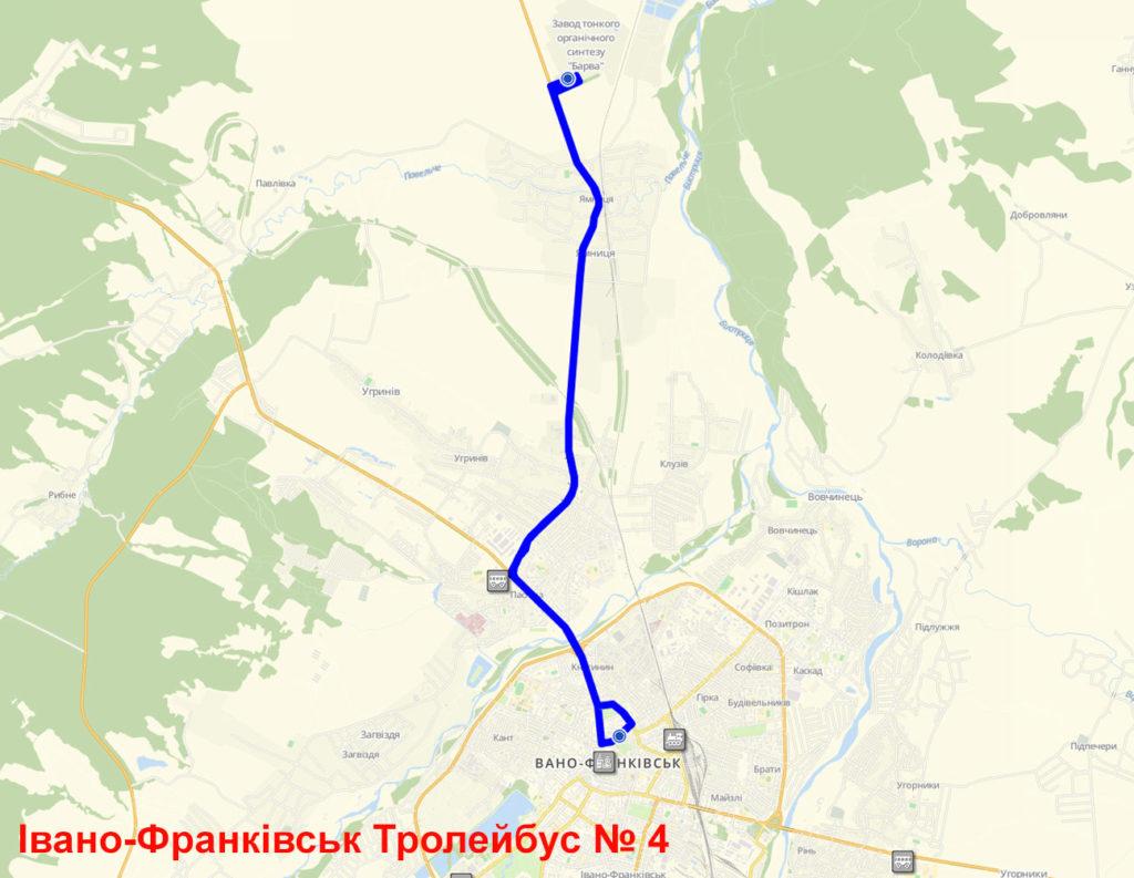 Тролейбус 4 Івано-Франківськ