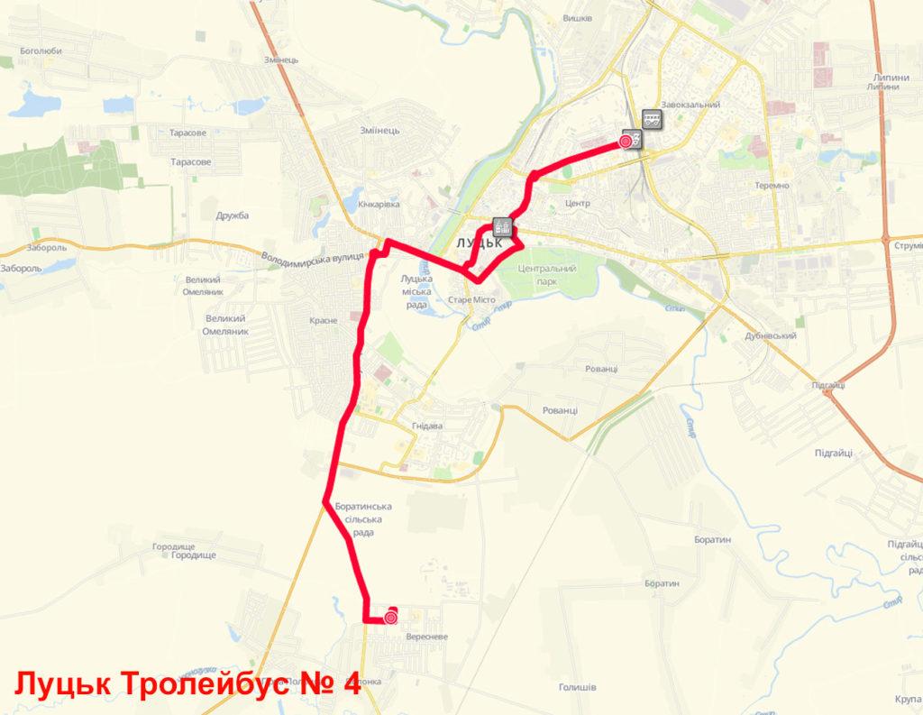Тролейбус 4 Луцьк