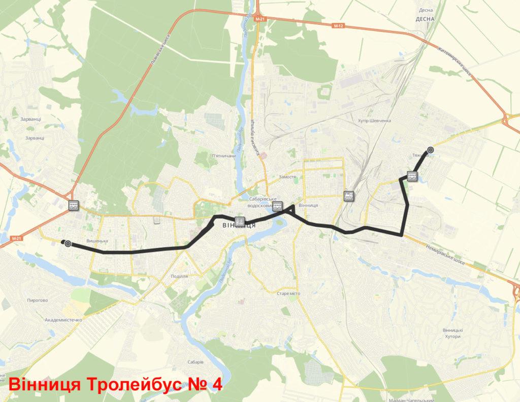 Тролейбус 4 Вінниця