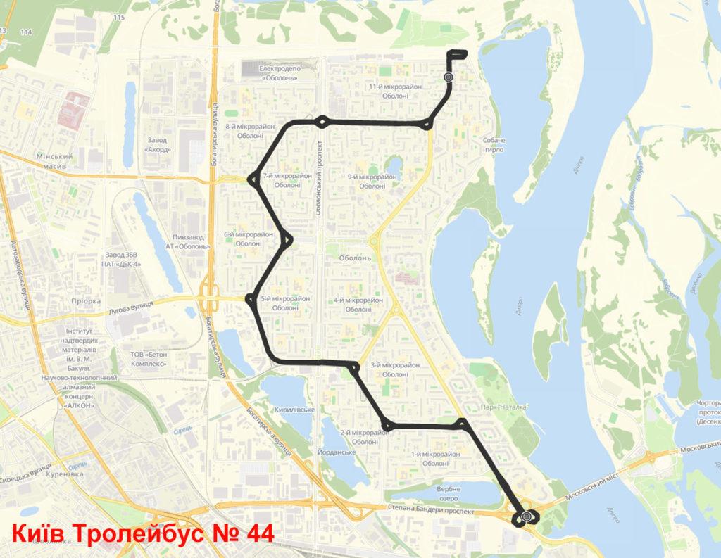 Тролейбус 44 Київ
