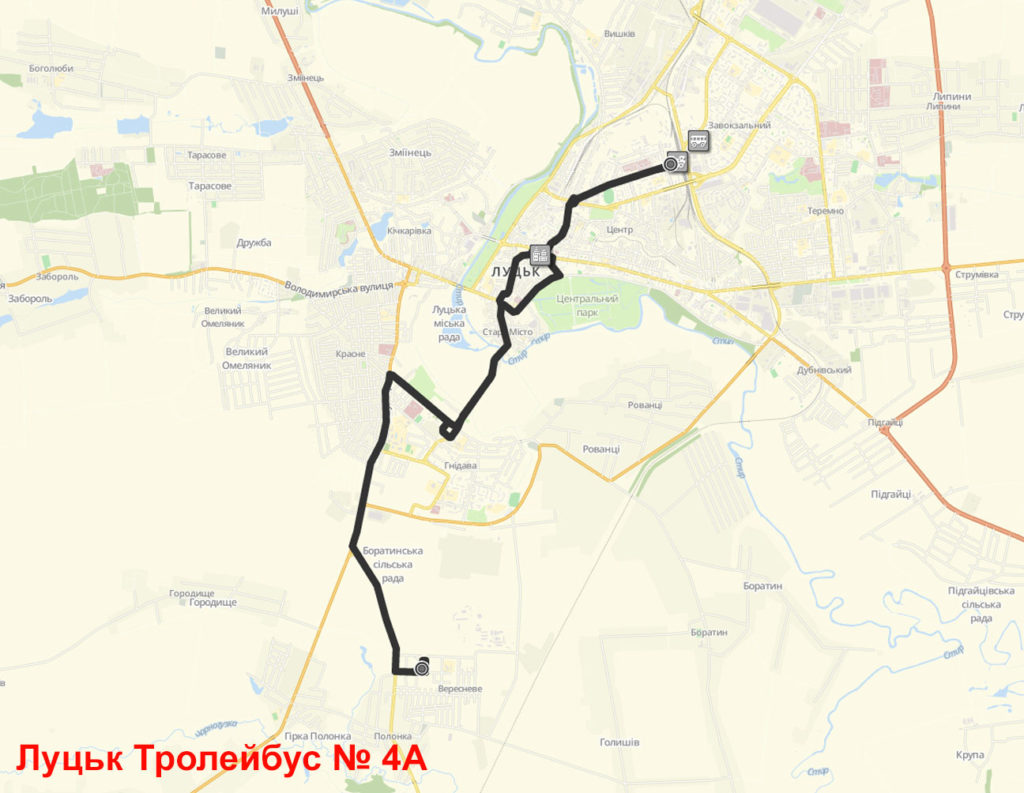 Тролейбус 4А Луцьк