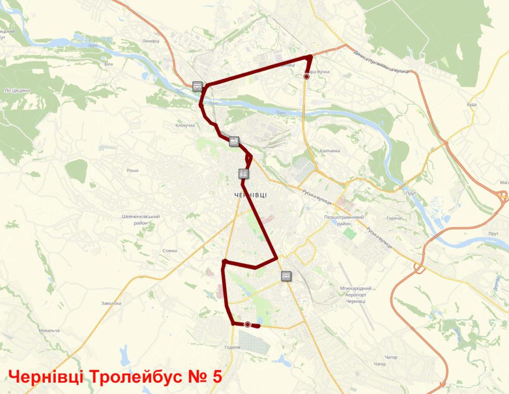 Тролейбус 5 Чернівці
