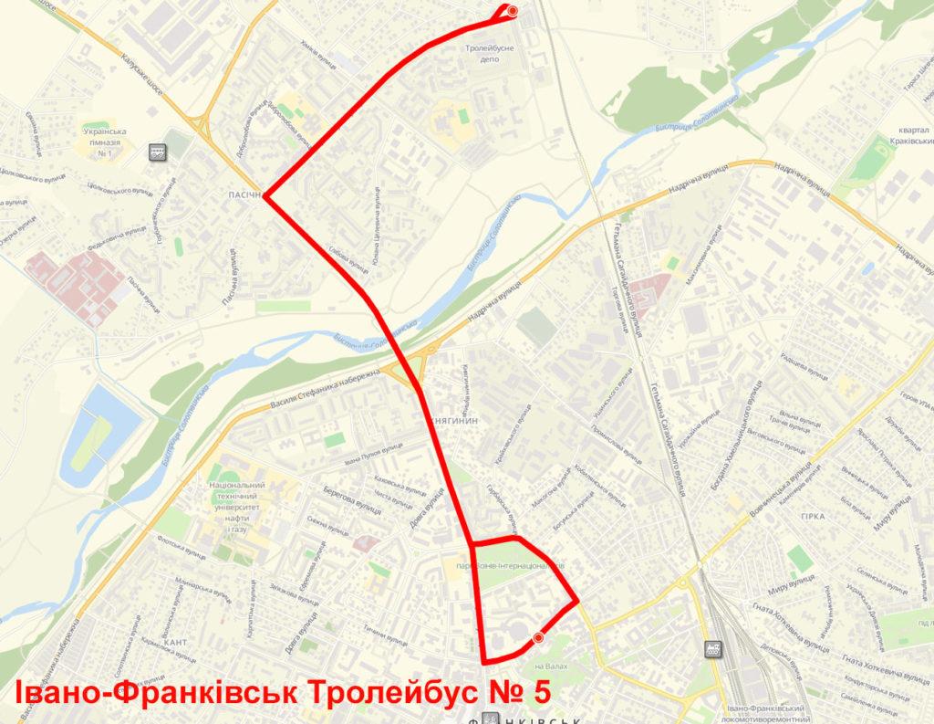 Тролейбус 5 Івано-Франківськ