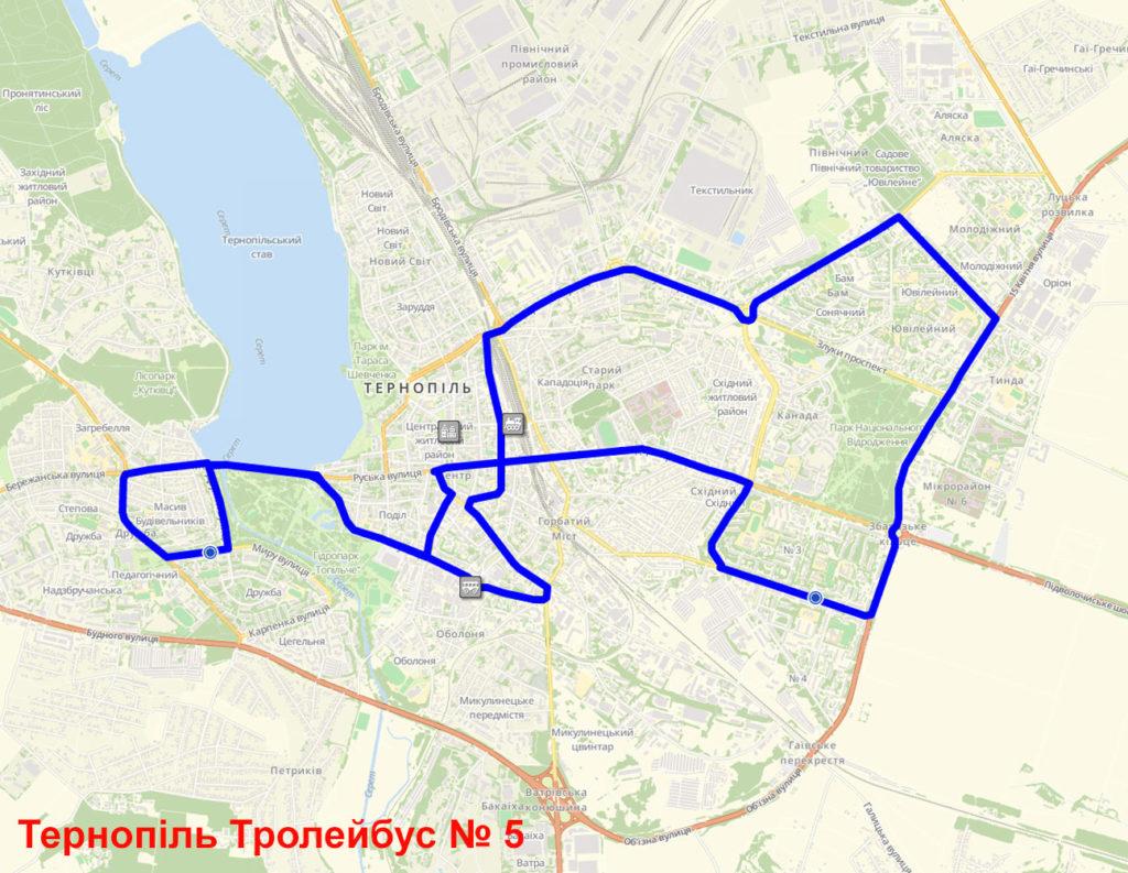 Тролейбус 5 Тернопіль