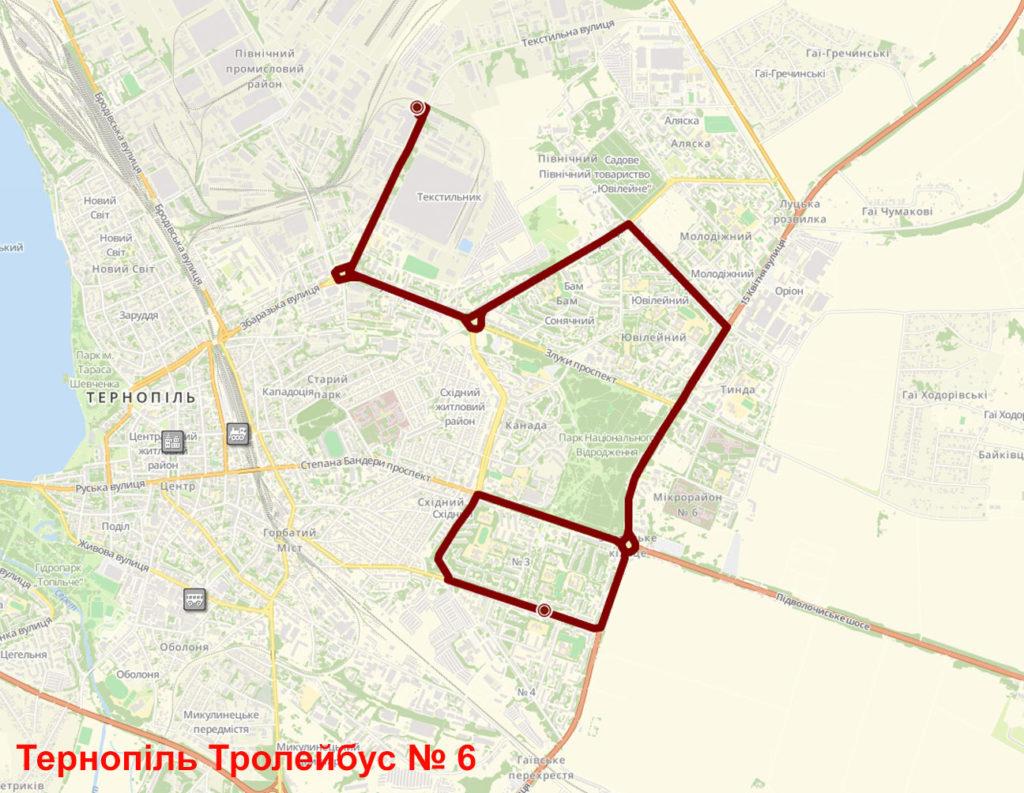 Тролейбус 6 Тернопіль