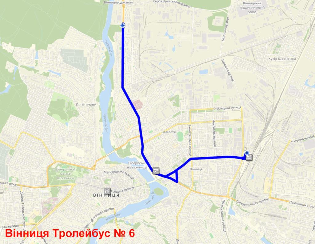 Тролейбус 6 Вінниця