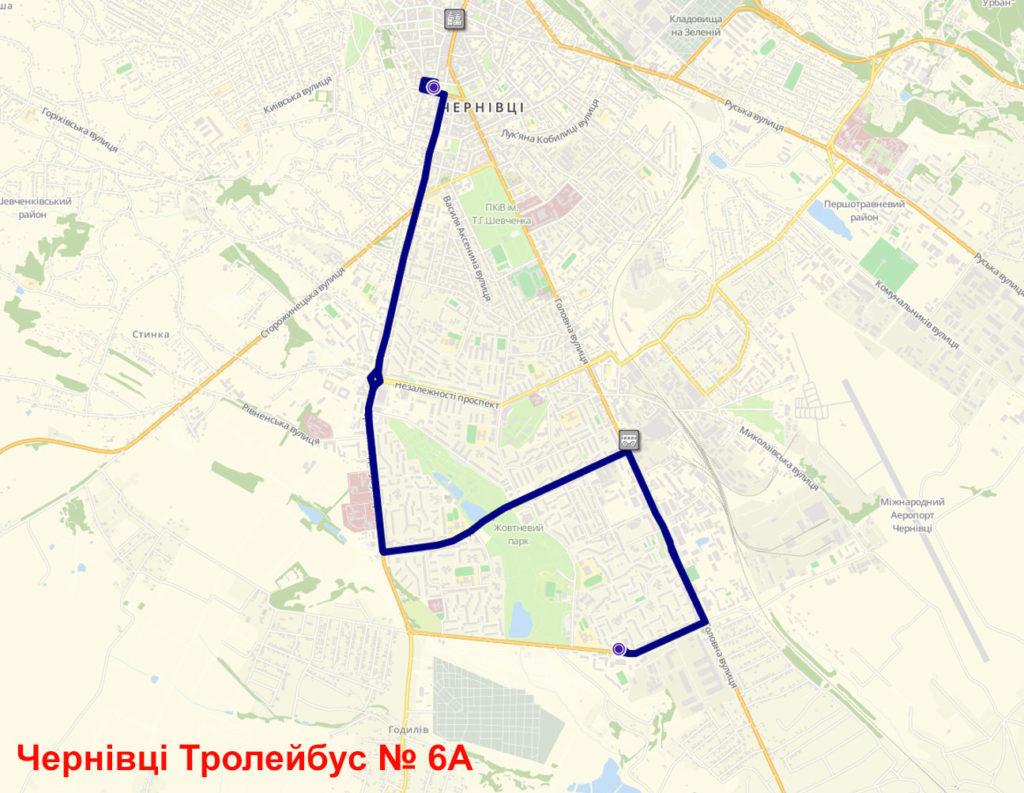 Тролейбус 6А Чернівці