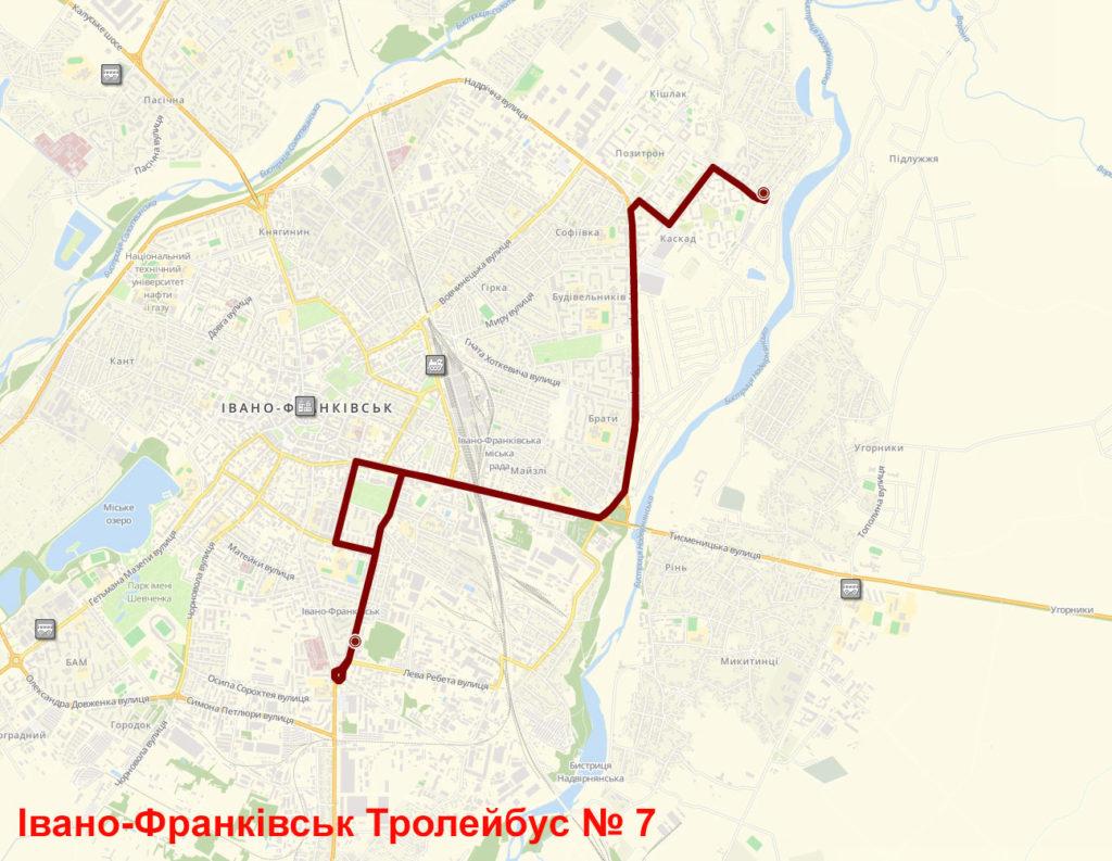 Тролейбус 7 Івано-Франківськ