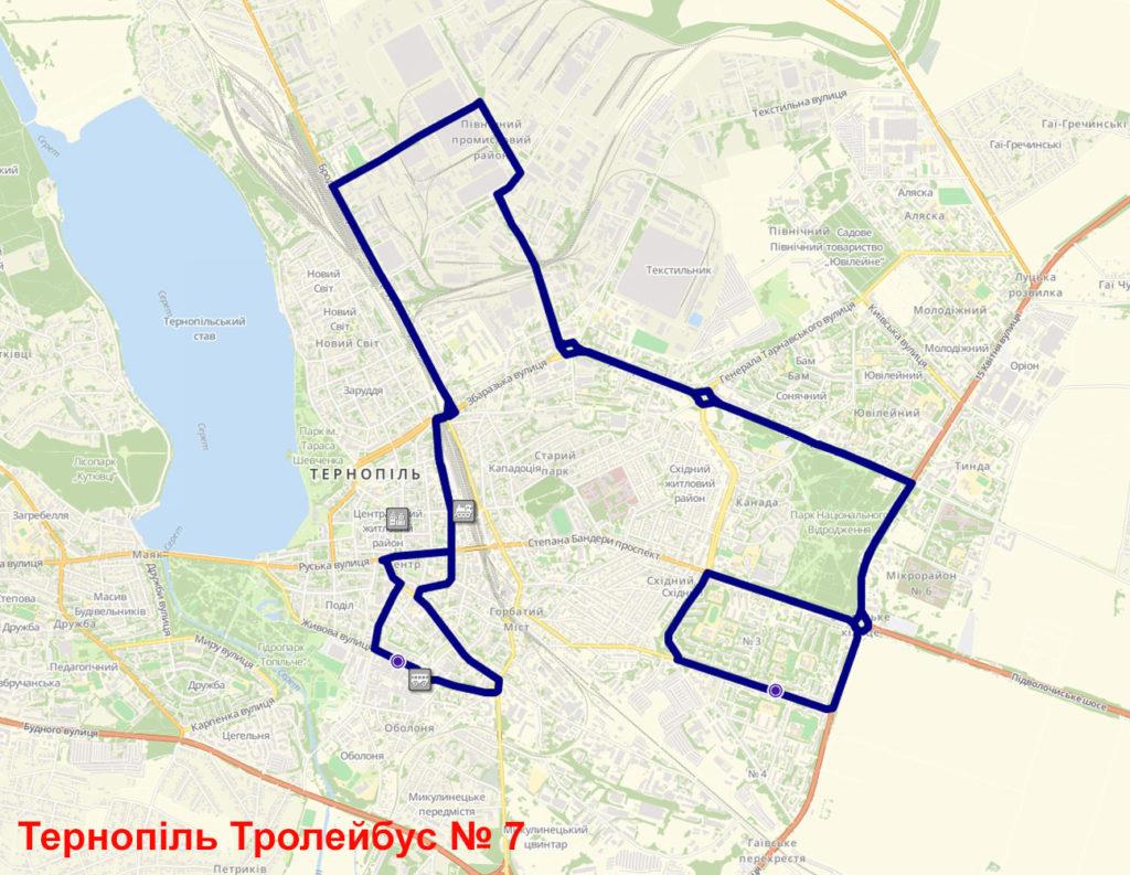 Тролейбус 7 Тернопіль