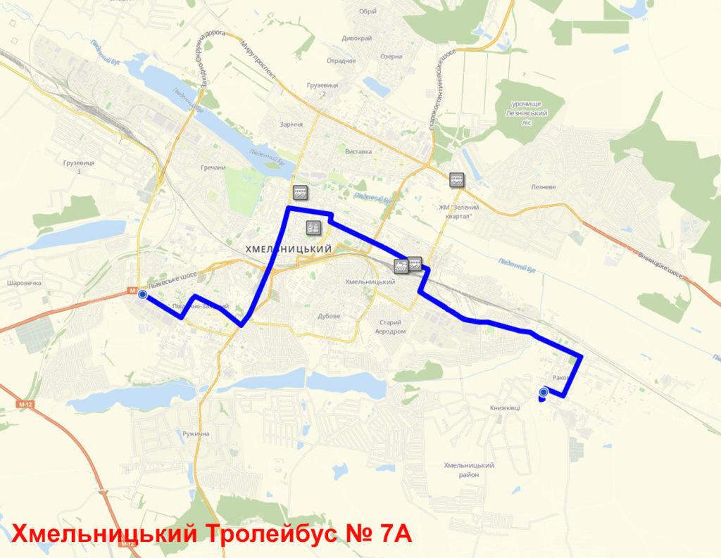 Тролейбус 7А Хмельницький