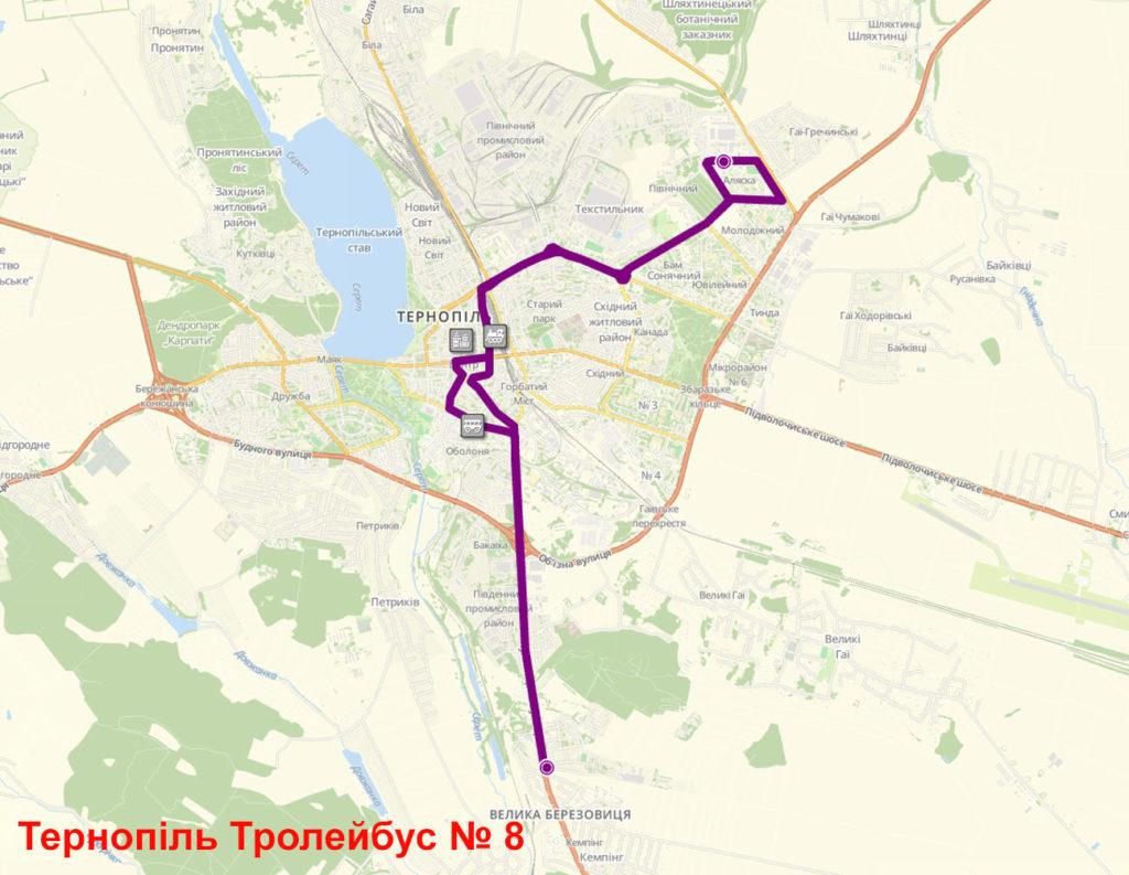 Тролейбус 8 Тернопіль